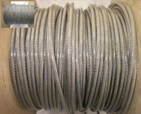Wholesale 100M Roll Overall Diameter 0 6MM PVC Plastic Coating Wire Rope Stainless 0 5MM Wire