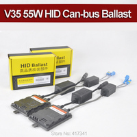 55W V35 HID Xenon Ballast With Canbus Error Cancellor Decoder Function Stable Quality For Headlight Replacement