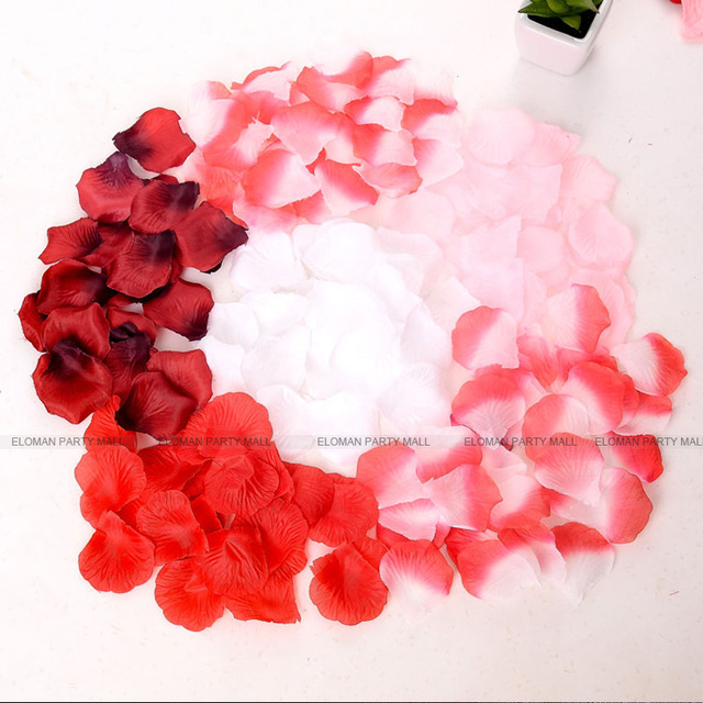 Eloman 500 piece silk rose flower