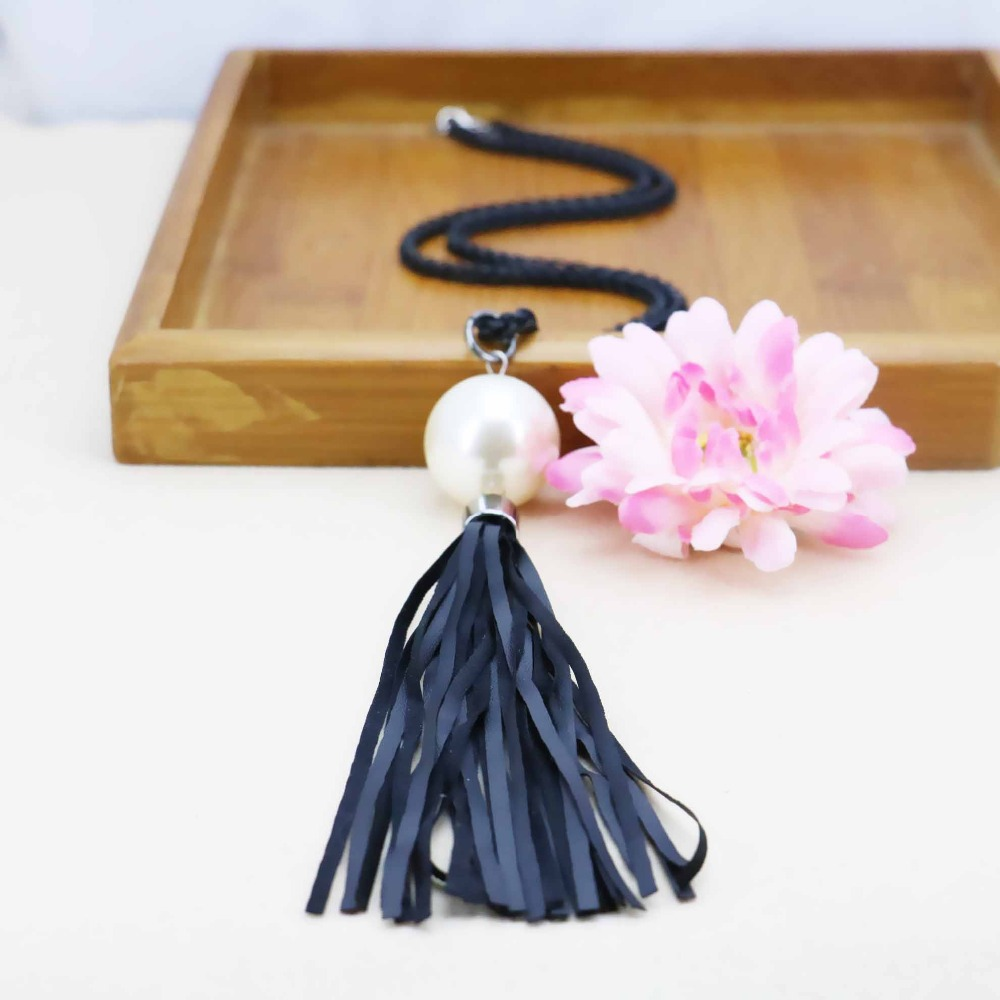 Accessories Series white Pearl Necklace Choker Sweater Chain Jewelry crafts making design women Girls Gifts Prevalent Lucky