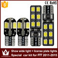 2pcs show wide light canbus 5730 8smd led + 2pcs license plate lights Special car2835  12smd led kit for honda FIT 2011-2015