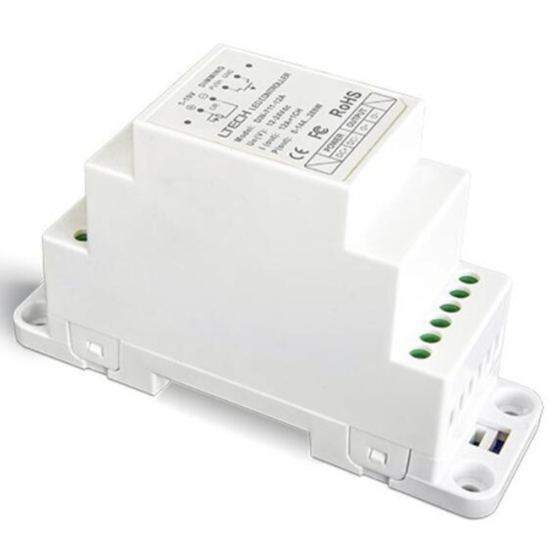 DIN-711-12A 1-10 V DIN rail LED numérique gradation pilote DC12V-24V entrée 12AX1CH Max 12A PWN LED pilote contrôleur livraison gratuite
