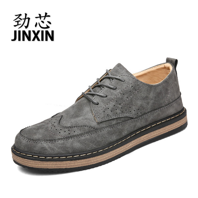 2017 New Hot sell Brogue shoes Men shoes Casual Shoes leather Fashion Breathable Walking Flat Shoes