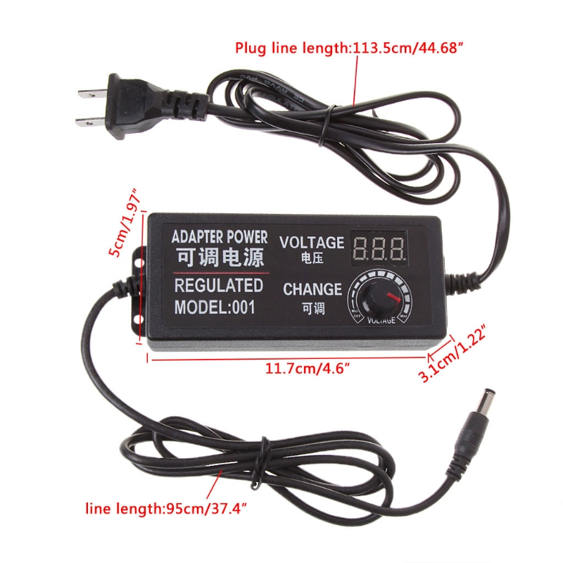 9-24V 72W Adjustable AC/DC Regulated Switch Power Supply Adapter with Display donolux ac dc adapter 72w 24v