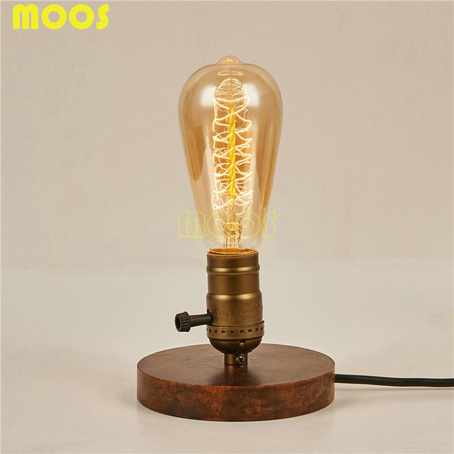 Vintage Edison Bulb Table Lamp: Vintage Edison Bulb Vintage Table Lamp Copper Desk Lamp