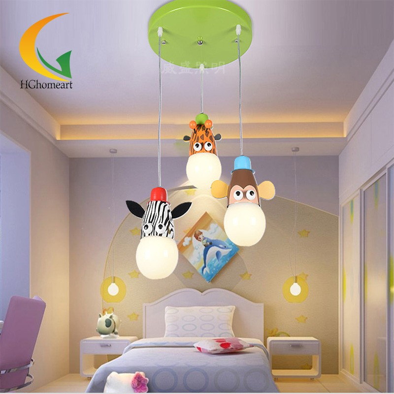 home lighting Led cartoon animal pendant lamp  pendant lights children's room hose led lamp boys and bedroom hghomeart kids led pendant lights basketball academy lights cartoon children s room bedroom lamps lighting