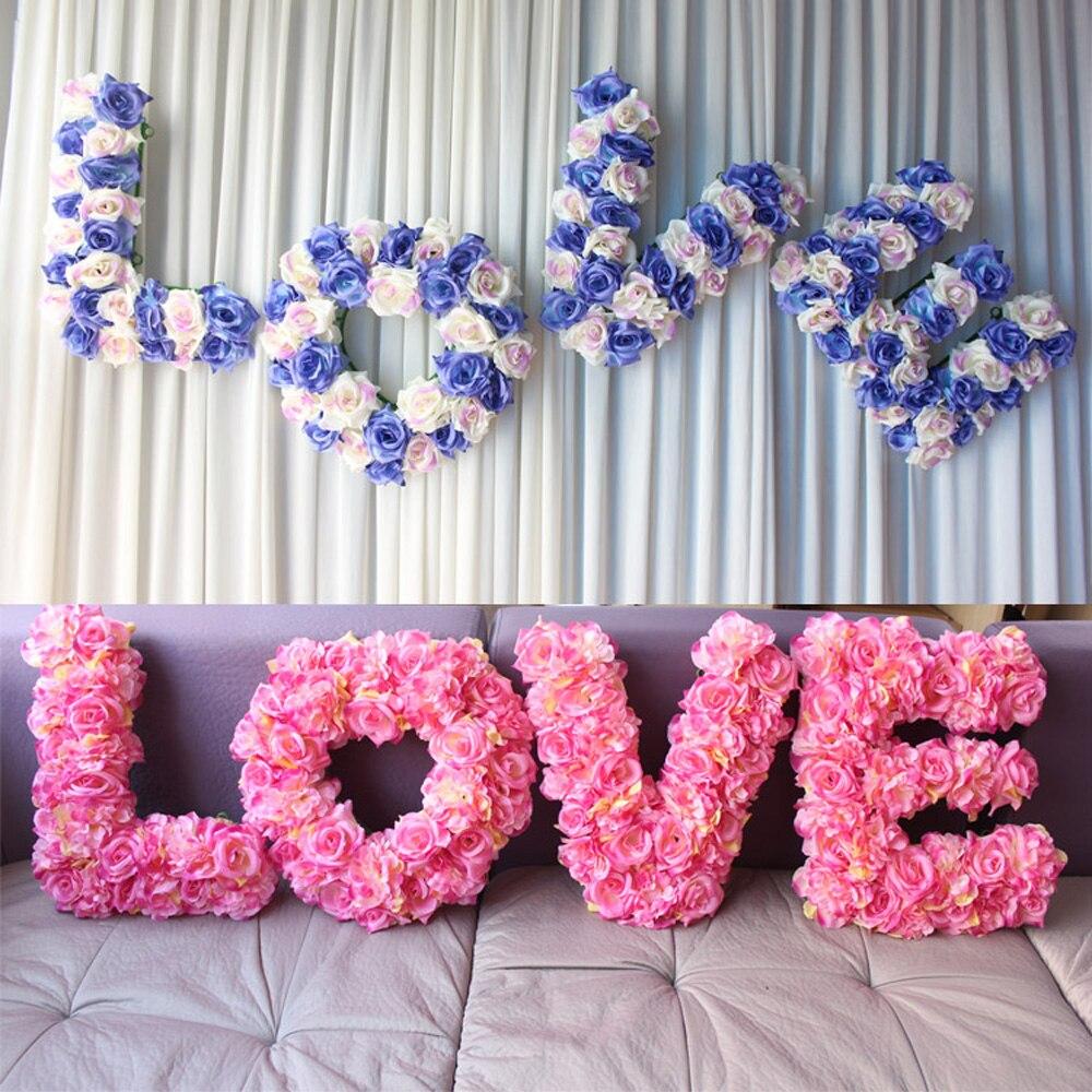 45 pièce 3D Grandes fleurs artificielles ensemble De Mariage étaye fleur de soie simulation de mariage chambre décoration bureau fenêtre bienvenue zone