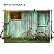 MEHOFOTO Art fabric photography backdrops Light green wooden house plank wall backdrop photography studio photo background(China)