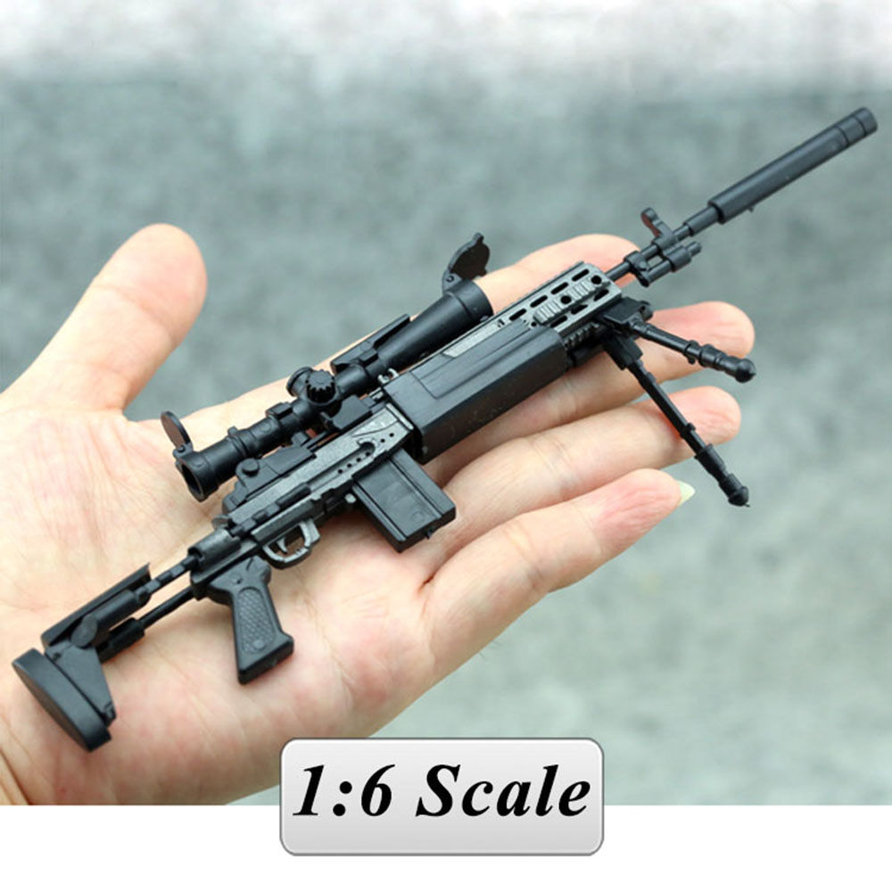 1:6 1/6 Scale 12 inch MK14 MODO Sniper Rifle Weapon Model Gun Toys For Action Figure Model Toys 1/100 MG Bandai Gundam Models 1 6 scale 4d assembling qsz92 pistol model gun weapon mode kids toys for 12 action figure accessories collectible gifts e
