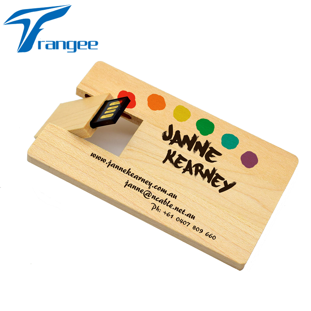 Trangee 10PCS/lot Wooden Business Card Style USB 2.0 4GB 8GB 16GB ...