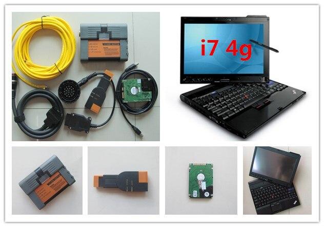 Pour bmw icom a2 ordinateur portable x201t i7 4g thinkpad x201 tablet avec le logiciel pour bmw ista mode expert 500 gb hdd multi langue win7