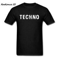 Marke T-Shirt Männer Kurzarm Techno Business t-shirt Brief Sommer Tops Männer Kleidung Camiseta 3XL