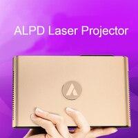 Лазерный мини-проектор Android WIFI Bluetooth 3D 3600 люмен Моторизованный объектив лазера 2G 16G 300 дюйма домашний мультимедийный проектор