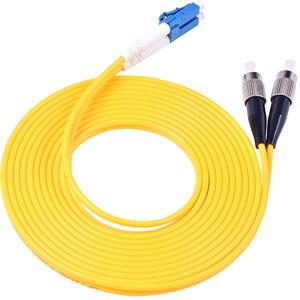 Image 3 - Cabo de ligação em ponte da fibra ótica de 10 pces lc/UPC FC/upc fibra duplex 3.0mm pvc 3 medidores cabo de remendo da fibra lc fc