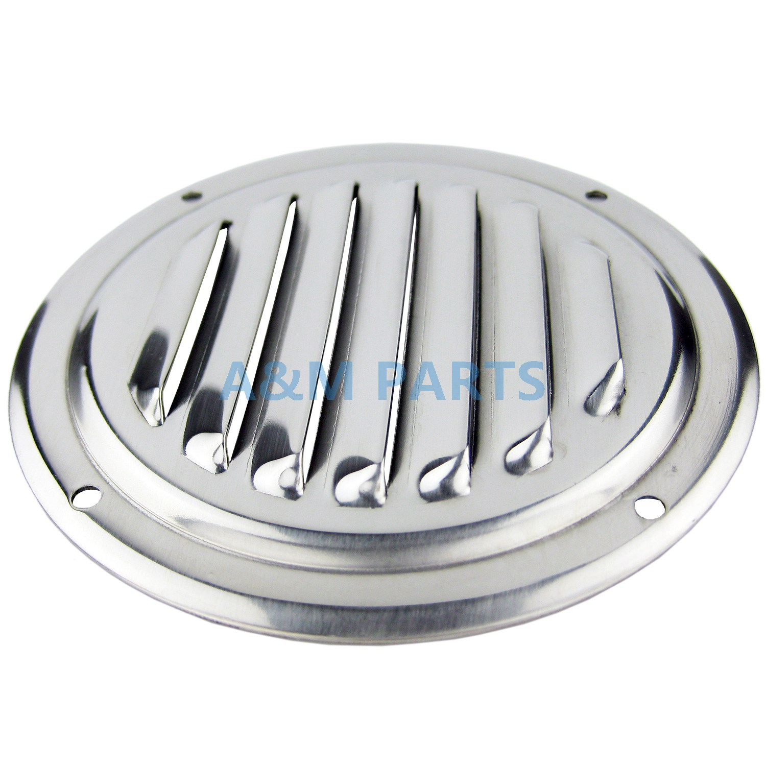 4 Stainless Steel Round Louvered Vent Marine Boat Vent 100mm Caravan Vent