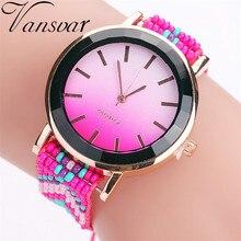 Hot Sell Fashion Woven Mesh Bracelet Watch Women Watches Casual Dress Round Dial Quartz Ladies Watch Clock Relogio Feminino #W
