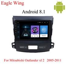 Android 8,1 Автомобильный gps dvd-плеер для Mitsubishi Outlander XL 2005-2011 с автомобильным радио мультимедиа видео и навигация секунды загрузки
