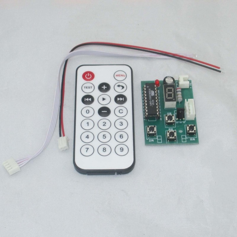 Stepper motor driver controller can drive two phase stepping multi gear speed control with remote control