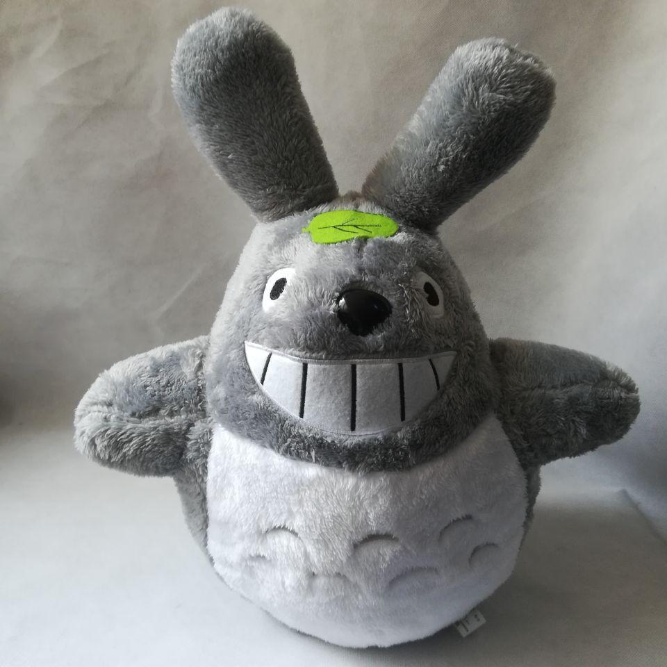 Grand 55 cm belle bande dessinée totoro en peluche jouet sourire totoro doux poupée oreiller jouet, cadeau d'anniversaire b2785