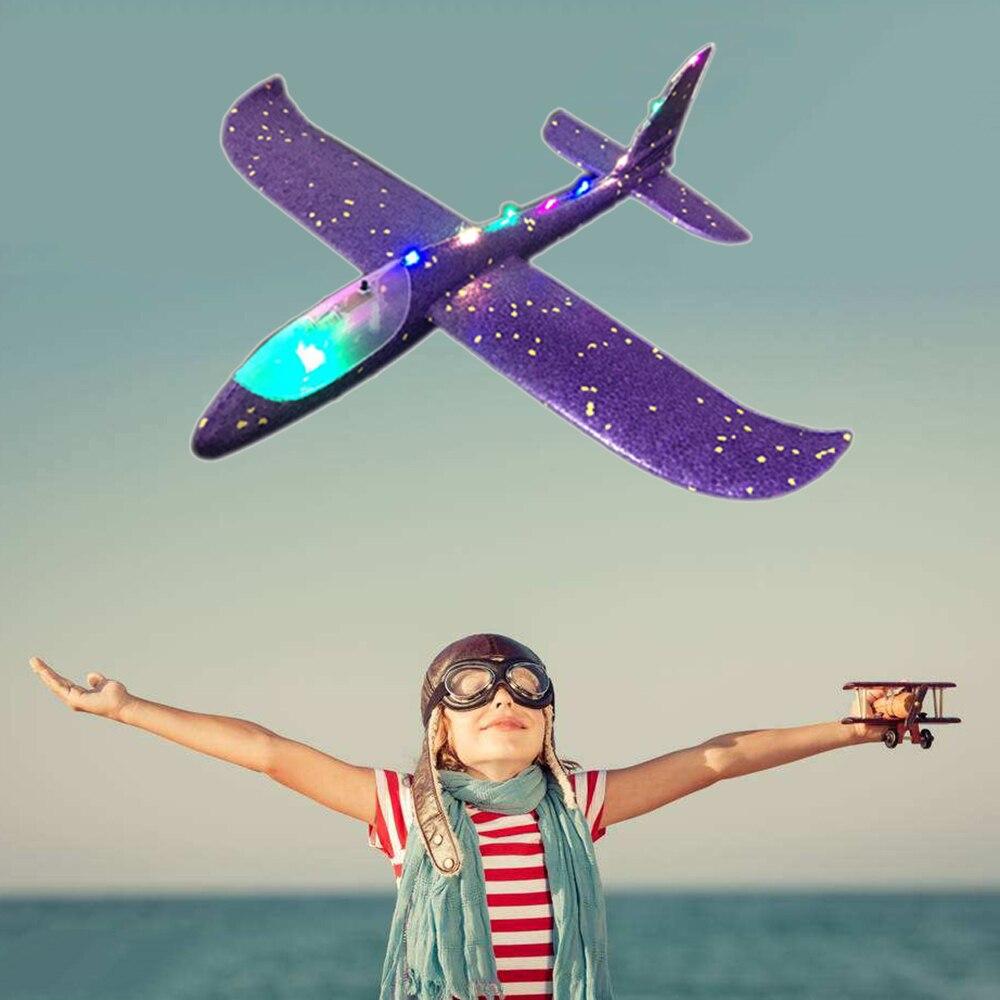 Main jet avion EPP mousse extérieur lancement planeur avion enfants jouets 48 cm lancement intéressant lancer inertiel modèle cadeau drôle