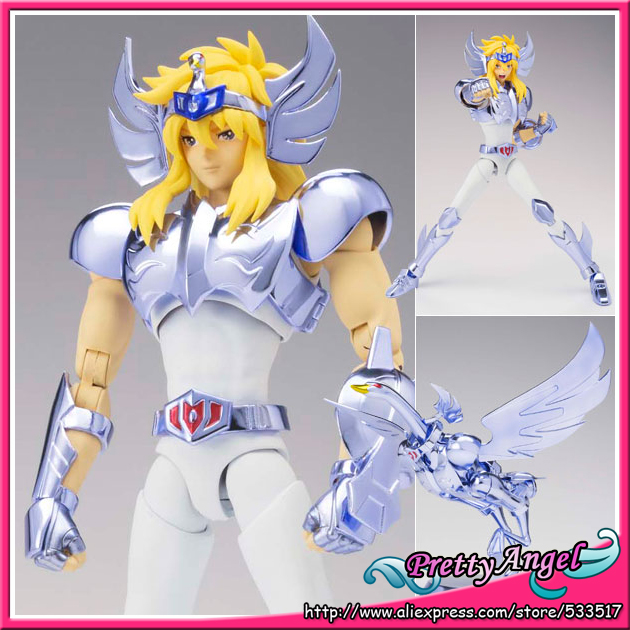 цена на Japanese Anime Original Bandai Saint Seiya Saint Cloth Myth EX Cygnus Hyoga(New Bronze Cloth) Action Figure