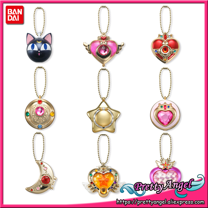 Sailor Moon Miniaturely Tablet 4 Dark Pink Cosmic Heart Compact Keychain Charm