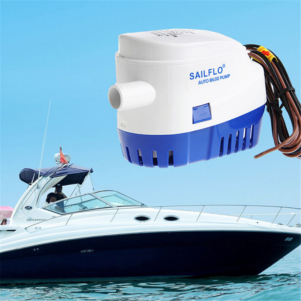 <font><b>750GPH</b></font> <font><b>12V</b></font> Boat Marine Automatic Submersible <font><b>Bilge</b></font> Water <font><b>Pump</b></font> Float Switch image