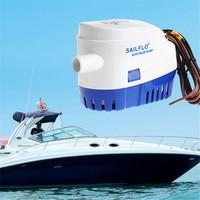 DC 12V/24V 1100GPH Automatic Bilge Pump Submersible Boat Water Pump Electric Pump For Boats Yart Bilge Pump