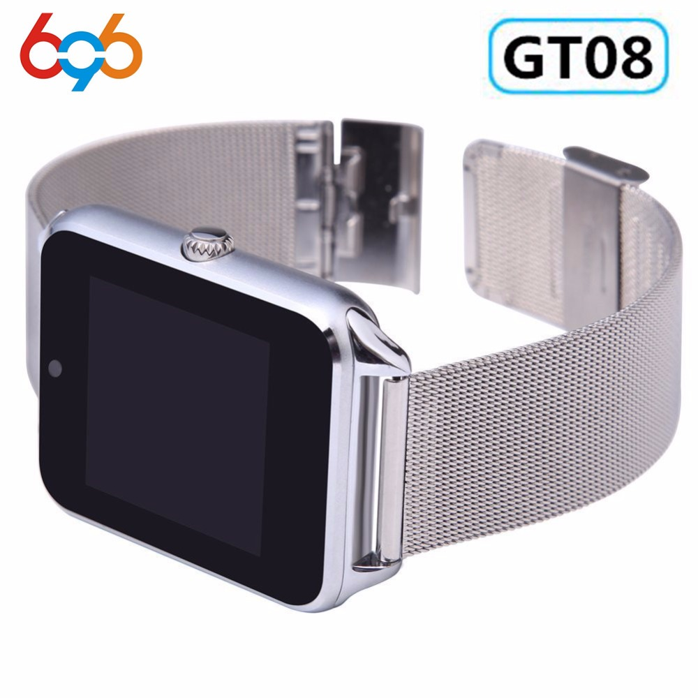 696 GT08 Plus Smart Watch Push Message Wrist Smartwatch Support SIM/TF Card Bluetooth Wristwatch For Apple Android Phone Pakistan