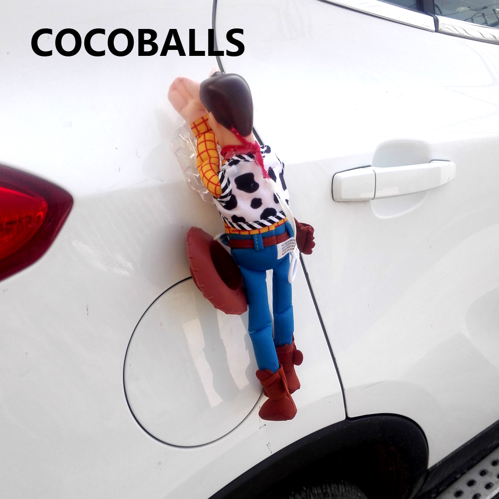 цена на cocoballs brand Funny Lovely Toy Story Sherif Woody Car Doll Outside Hang Toy Cute Muneca Auto Accessories 20CM 30CM