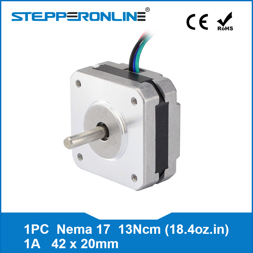17 4-chumbo Nema Stepper Motor 20mm 1A 13Ncm (18.4oz.in) 42 Nema17 do motor de Passo para DIY Impressora 3D CNC XYZ