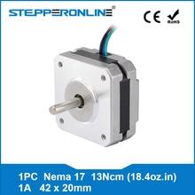 4-привести Nema 17 шаговый двигатель 20 мм 1A 13Ncm (18.4oz.in) 42 двигателя Nema17 Степпер для DIY 3D-принтеры ЧПУ XYZ