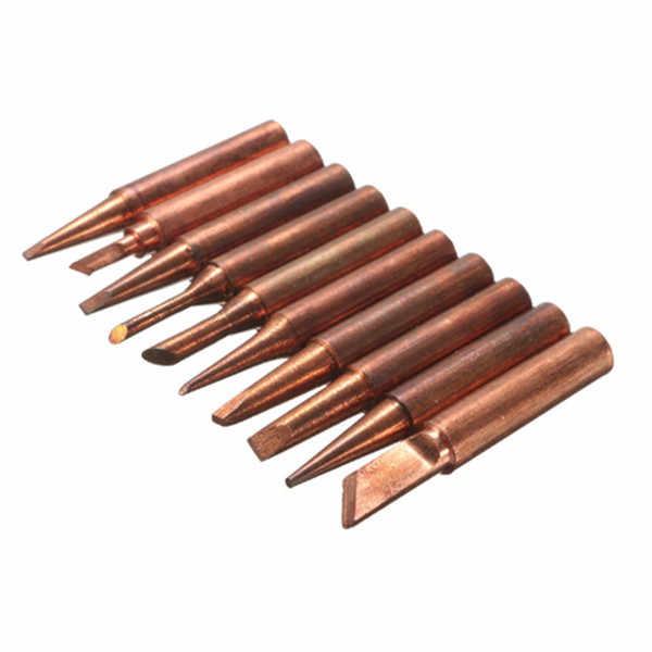 10Pcs//Lot 900M-T-I Soldering Tips Pure Copper Low Temperature Soldering Iron XD