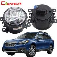 Cawanerl 2 X Car Accessories LED Bulb Fog Light 4000LM White 6000K 12V DRL Daytime Running
