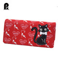 Marca de lujo carteras bolsos femeninos de las mujeres de LA PU de Cuero Sólido CERROJO monedero caja de gato monedero de la cartera cartera cuzdan Caliente venta