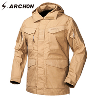 S ARCHON M65 Waterproof Military Field Jackets Men Autumn Windbreaker Tactical Pilot Jacket US Army Flight