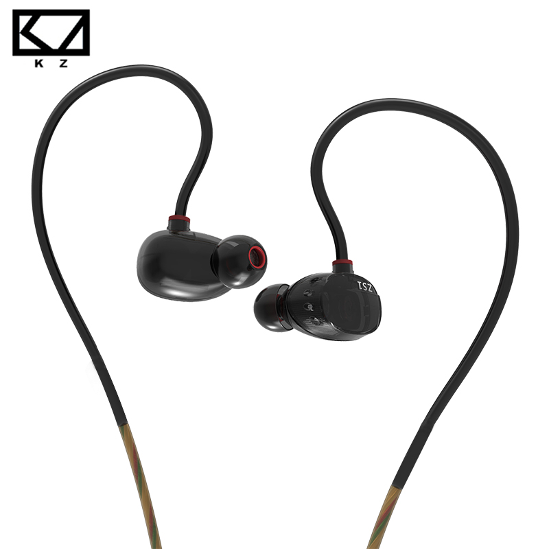 KZ ZS1 Dual Dynamic Monitoring Noise Cancelling Stereo In-Ear Headphones HiFi Earphone For Phone Gaming Headset No Mic