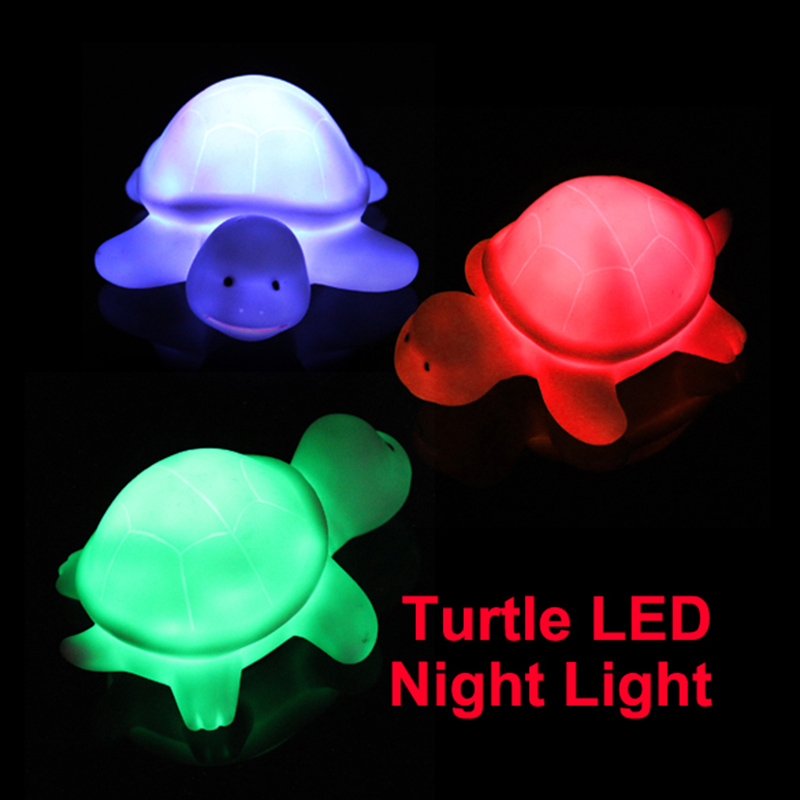 New Turtle LED 7 Colours Colors Night Light Lamp Party Christmas Decoration Colorful 88 JDH99