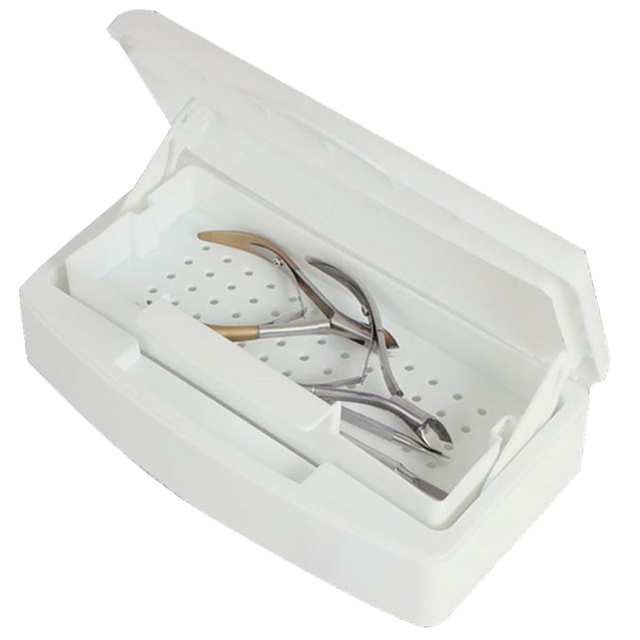 Professional Disinfectant Sterilizer Tray Box Nail Art Cleaning Tool Pedicure Manicure Sterilizing Tools