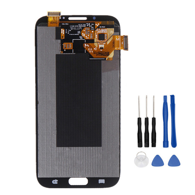 100% Tested Working LCD For Samsung Galaxy Note 2 N7100 N7105 LCD Display Touch Screen Complete+Tools Free Shipping