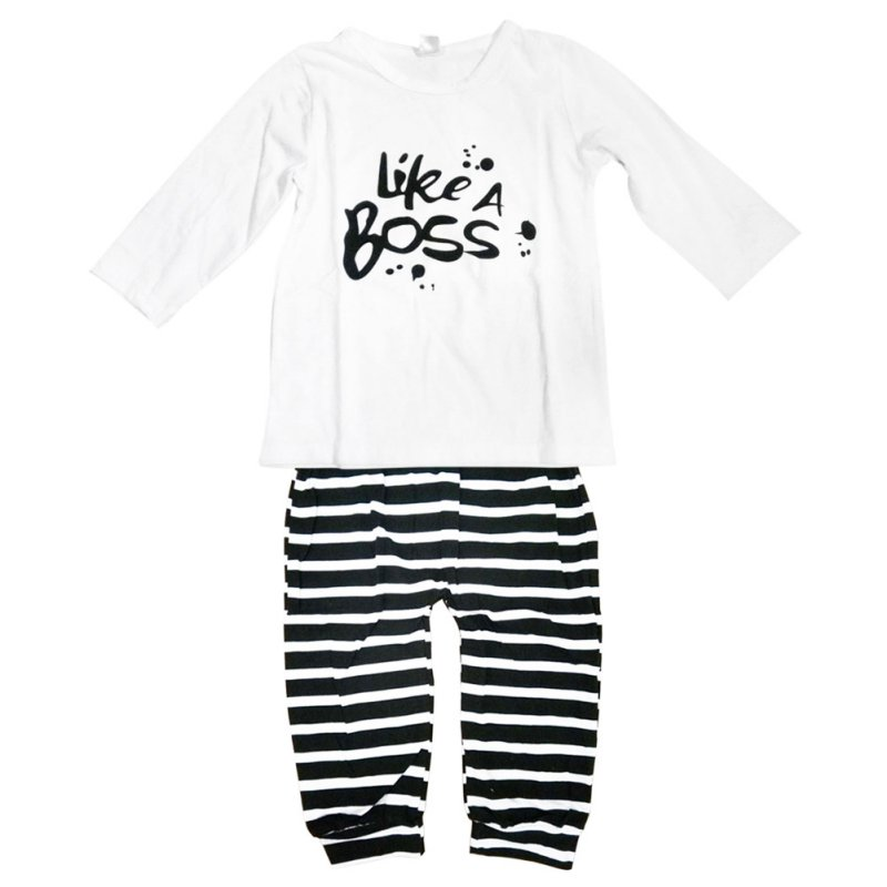 New Baby Boy Clothes Set Fashion Cotton Long sleeved Party Letter T shirt pants 2pcs s