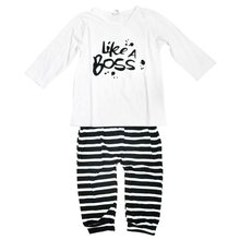 New Baby Boy Clothes Set Fashion Cotton Long-sleeved Party Letter T-shirt+pants 2pcs s Newborn Baby Girl Clothing set