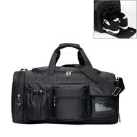 Top Quality Waterproof Nylon Sports Gym Bag Travel Gear Large Outdoor Travel HandBag Men Fitness Black Duffle Bags sac de sport