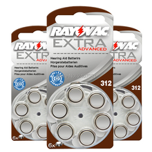 New 60 cells/10card Rayovac Extra 1.45V Performance Hearing Aid Batteries. Zinc Air 312/A312/PR41 Battery for CIC Hearing aids