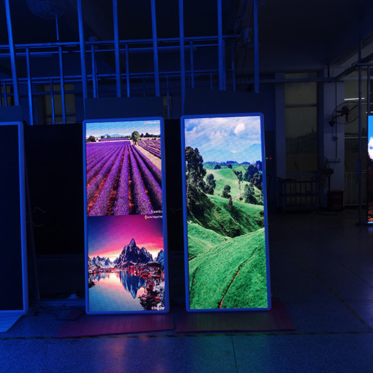 Indoor Advertising Machine, P2.5 Indoor Full Color High Definition Advertising Led Mirror Poster Display