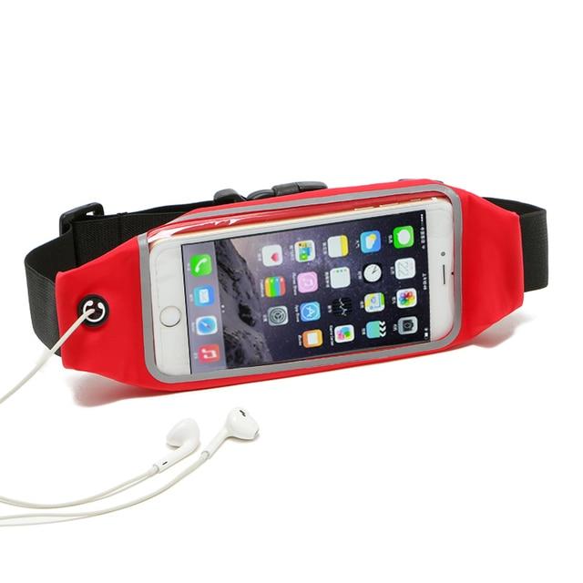Gym Waterproof Waist Clip Mobile Phone Case Touch Screen Bags For Asus Zenfone 3 ZE552KL/3 Deluxe ZS570KL/Pegasus 3,vivo X7 Plus
