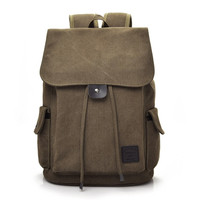 2017 Hot Men S Backpack Leisure Shoulder Travel Retro Canvas Men S Bag Schoolbag Free Shipping