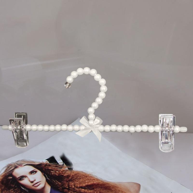 5ks / lot 25cm dětské plastové perly oblečení stojan děti ramínka na oblečení kalhoty spodní prádlo regály