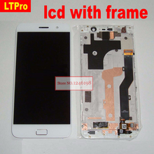Original LTPro สีดำ SENSOR จอแสดงผล LCD Touch Screen Digitizer ASSEMBLY พร้อมกรอบสำหรับ LENOVO ZUK Z1 อะไหล่