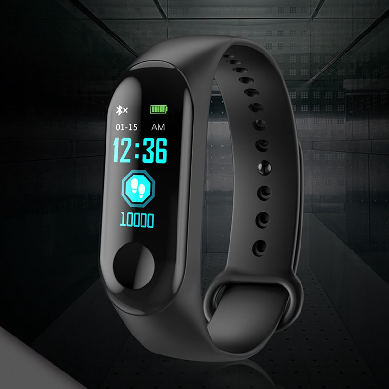 Smartbands Sports Bracelet Heart Rate M3c Bracelet Wristband Fitness Tracker Blood Pressure Monitor Android Ios Pk Mi Band 2 3 Men's Watches Digital Watches